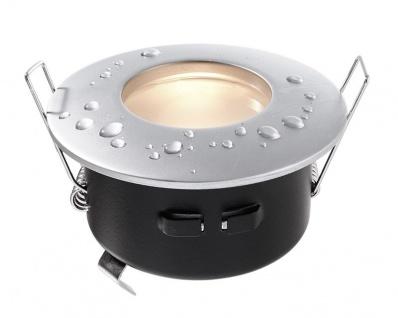 Deko Light Einbaustrahler silber-matt IP65 1 flg. GU5, 3 / MR16 Modern