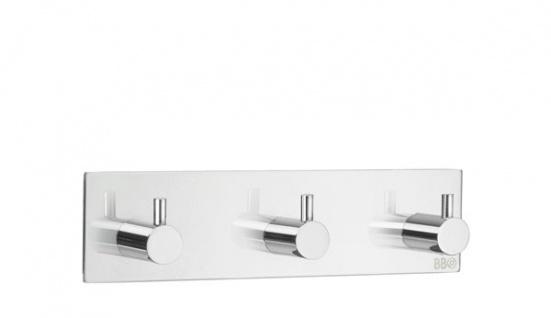 Smedbo Design 3-Fach Hakenleiste Edelstahl poliert BK1107