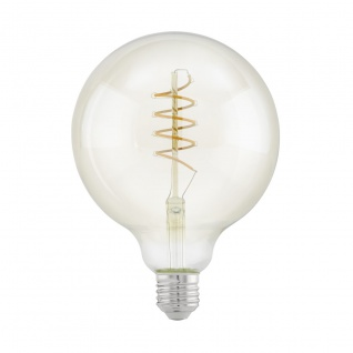 EGLO Vintage E27 LED Leuchtmittel 4W 260lm 2200K G125 Globe Spirale 125mm