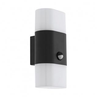 EGLO FAVRIA 1 LED Wandaußenleuchte anthrazit 2-flg. IP44 Bewegungsmelder