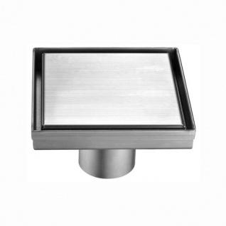 MERT Design Bodenablauf Quadrat Edel 200 x 200 mm Edelstahl