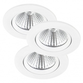 LED Einbauleuchte weiß Nordlux Fremont 3er Set a 345lm 2700K rund - Vorschau