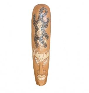Balinesische Maske aus Holz Deko 100cm dunkel - Vorschau