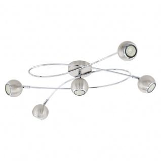 EGLO LOCANDA LED Deckenleuchte GU10 nickel-matt, chrom