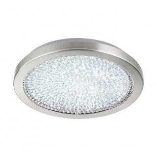 EGLO AREZZO 2 LED Kristall Deckenleuchte Ø345, 1-flg., nickel-matt, klar
