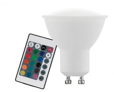 EGLO GU10 RGB LED Leuchtmittel 4W 220lm 3000K mit Fernbedienung