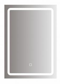 bhp Spiegel mit LED Beleuchtung rechteckig, 5mm, 50x70cm, 220-240V, 3000/6500K