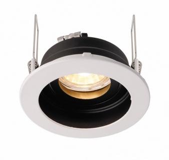 Deko Light Enif Einbaustrahler schwarz / weiß 1 flg. GU5, 3 / MR16 Modern