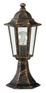 Rabalux Velence Außen Sockelleuchte 1x E27 gold antik