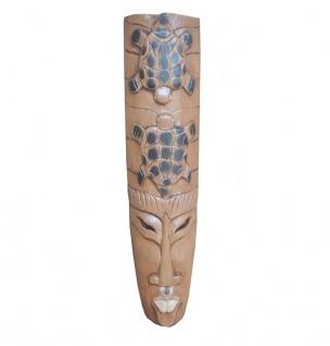 Balinesische Maske aus Holz Deko 100cm dunkel