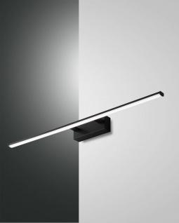 LED Spiegellampe schwarz satiniert Fabas Luce Nala 1350lm IP44