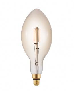 EGLO LED Leuchtmittel E27 E140 4W 400lm 2200K amber dimmbar 140x342mm