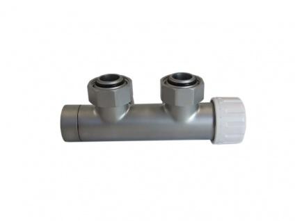 Schlösser Duo-Plex Design Mittelanschluss Ventil Durchgangsform silber satin 6020 00023