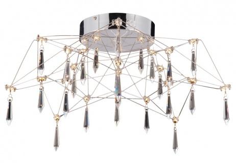 LED Deckenleuchte Kristall Acryl chrom Näve Araneus Dm. 55cm