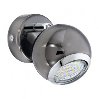 EGLO BIMEDA LED Wandspot, 1-flg. GU10 nickel-nero, chrom