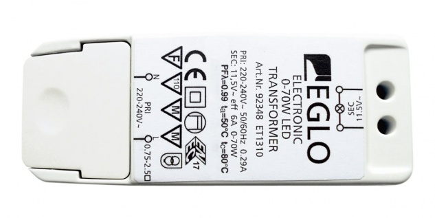EGLO LED & Halogen Trafo 11, 5V, 0-40W Led, 0-70W Halogen
