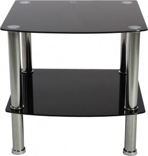 bhp Glasregal, 5mm Glas, schwarz 38mm rostfreies Stahlrohr, Stärke: 0, 3mm