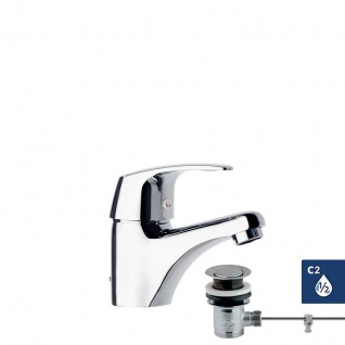 Ramon Soler Vulcano Energy Einhebel Waschtischarmatur mit Zugstangenablauf 6901KVA