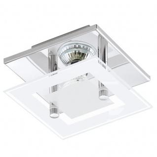 EGLO ALMANA LED Wand & Deckenleuchte GU10 chrom, weiss-klar