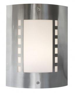 Deko Light Wall I Wandleuchte außen silber, weiß IP44 1 flg. E27 Modern