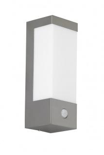 Wofi LED Wandaußenleuchte mit Bewegungsmelder VIR edelstahl geb.