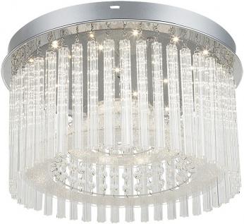 Rabalux Danielle LED Glas Kristall Deckenleuchte chrom rund