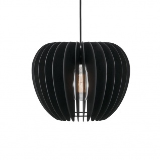 Holzlamellen Hängelampe schwarz Nordlux Tribeca 38 mit E27 Fassung