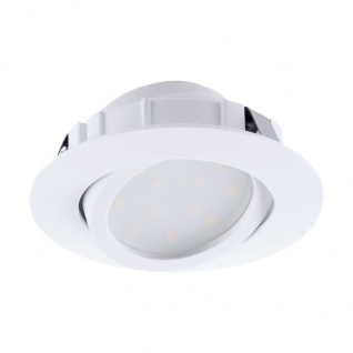 EGLO PINEDA LED Einbauspot Ø84, 1-flg., weiss