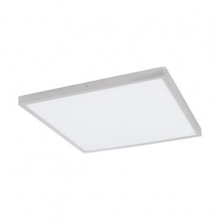 LED Deckenleuchte eckig EGLO FUEVA 1 silber 600x600mm 3000K