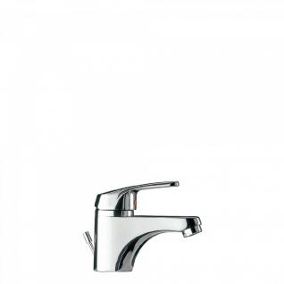 Tres Eco-Tres Einhebel Waschtischarmatur chrom mit Wassersparfunktion und Zugstangen Ablauf