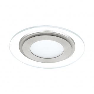 EGLO PINEDA 1 LED Einbauspot, 1-flg., weiss, nickel-matt, klar, satiniert