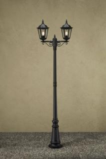 KONSTSMIDE Firenze Schwarze Standleuchte mit 2 Leuchtenköpfen