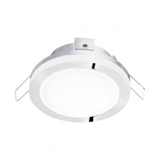 EGLO PINEDA 1 LED Einbauspot Ø82, 1-flg., chrom, weiss