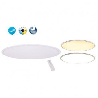LED Deckenleuchte weiß Näve Sorrent 60cm 2400lm Fernbedienung u. Nachtlicht