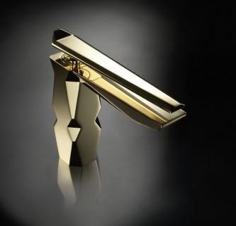 Maier Ikon Einhebel Waschtischarmatur gold-glänzend mit Click-Clack Ablauf 74.004