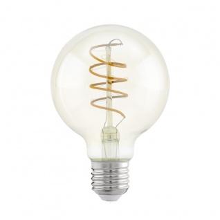 EGLO Vintage E27 LED Leuchtmittel 4W 260lm 2200K G80 Globe Spirale 120mm