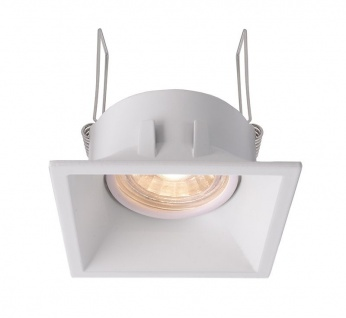 Deko Light Auva eckig Einbaustrahler weiß-matt 1 flg. GU5, 3 / MR16 Modern