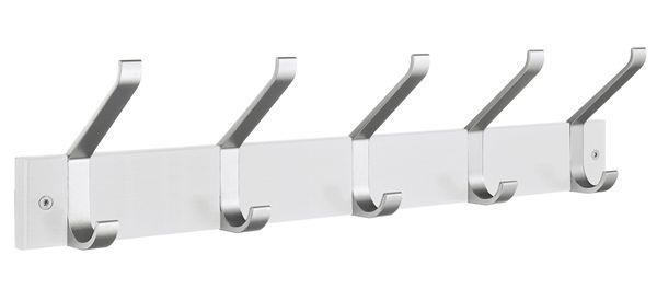 Smedbo Garderobenhaken Holz/Aluminium 5 Fach weiss BX1074