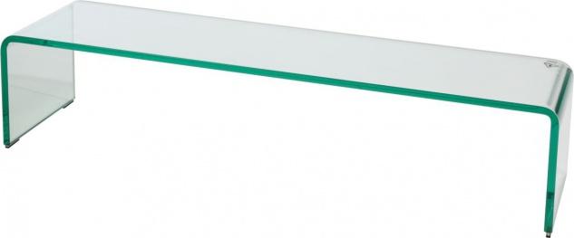 bhp TV Aufsatz aus Glas Hagen klar 90x25cm Höhe: 20cm 12mm