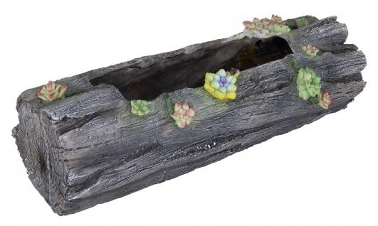 LED Solar Blumentopf in Holzoptik antik-grau zum Bepflanzen LBH:44, 3x17, 3x13, 5cm von Globo