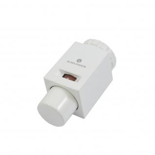 Schlösser Thermostatkopf Mini M30 x 1, 5 Heimeier Square weiss 6011 00040