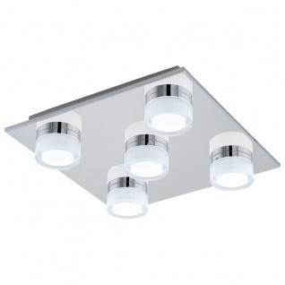EGLO ROMENDO 1 LED Deckenlampe 320x320mm 5x570lm IP44 chrom