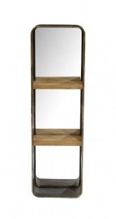 bhp Wandspiegel mit 2 Ablagen aus Holz inkl. Metallrahmen 36 x 120cm