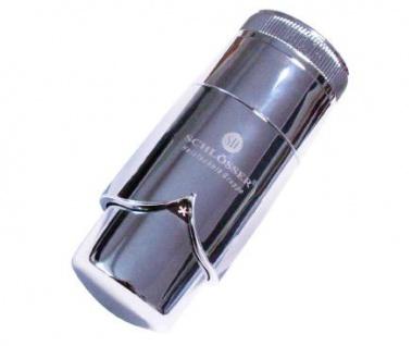 Schlösser Thermostatkopf Brilliant Schnappverschluß für Danfoss chrom 6005 00007