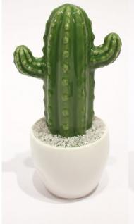 Deko Kaktus grün aus Porzellan 9, 5x8, 5x19cm