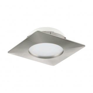 LED Einbauspot EGLO PINEDA 102x102mm nickel-matt