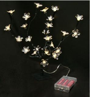 Deko LED Baum mit 25 Blüten warmweiß H. 25cm Batteriebetrieb