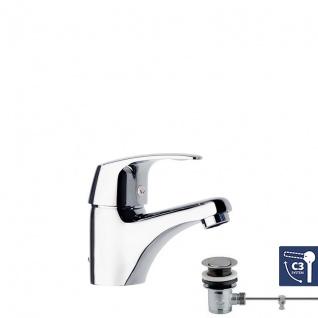 Ramon Soler Vulcano Energy Einhebel Waschtischarmatur mit C3 Sparsystem und Zugstangenablauf 6991KVA