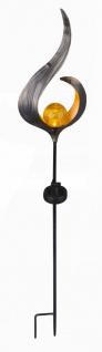 LED Solarlampe Glaskugel in geschwungenem Metallbogen bronzefarben von Globo