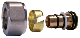 Schlösser Klemmringverschraubung weiss 3/4 x 16mm für PE-Rohr 6026 00001.06